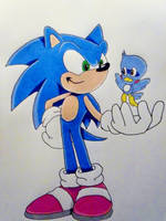 Sonic and Flicky by DarkGamer2011