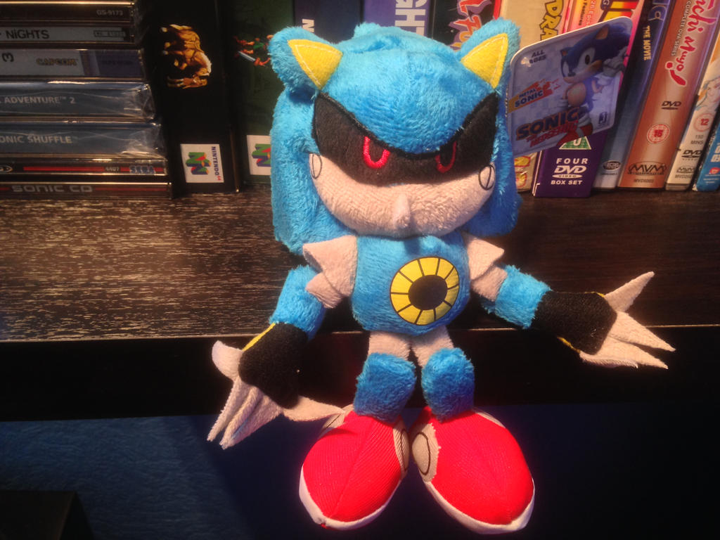 Metal Sonic Plush by DarkGamer2011
