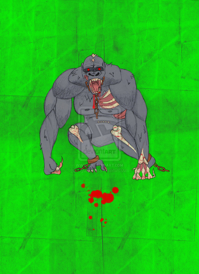 Zombie Gorilla by DrawingAries