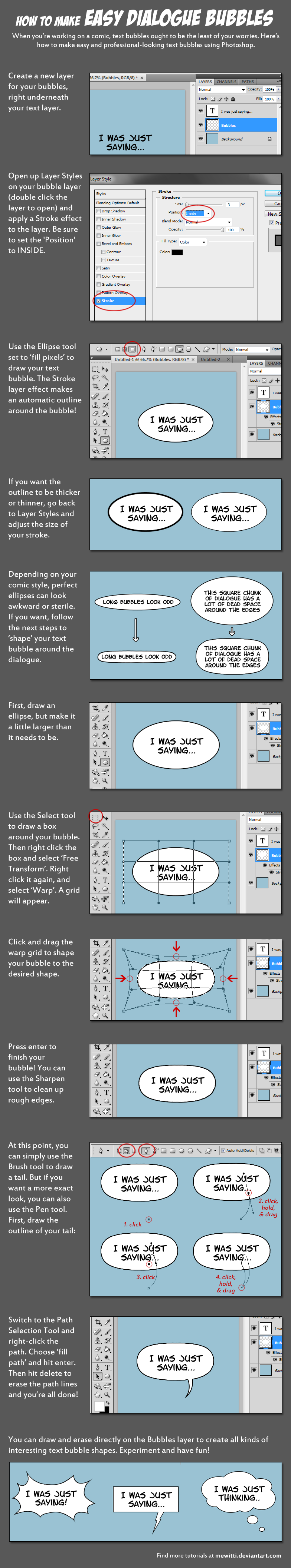 How to Make Easy Dialogue Bubbles