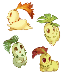Leaf Babies by Mewitti