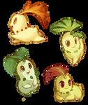 Leaf Babies by Mewitti