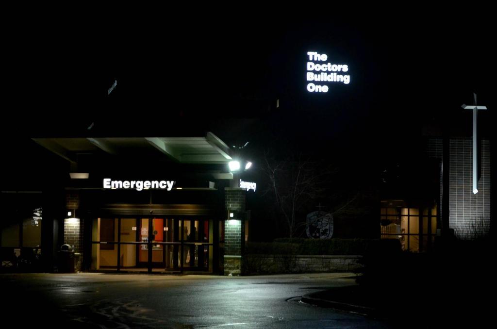 Emergency Room ER Entrance 2AM by BigBadMatt