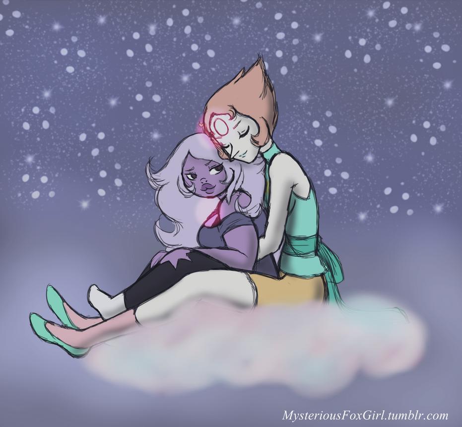 Pearlmethyst request I did for 'week of gem lovin' on tumblr