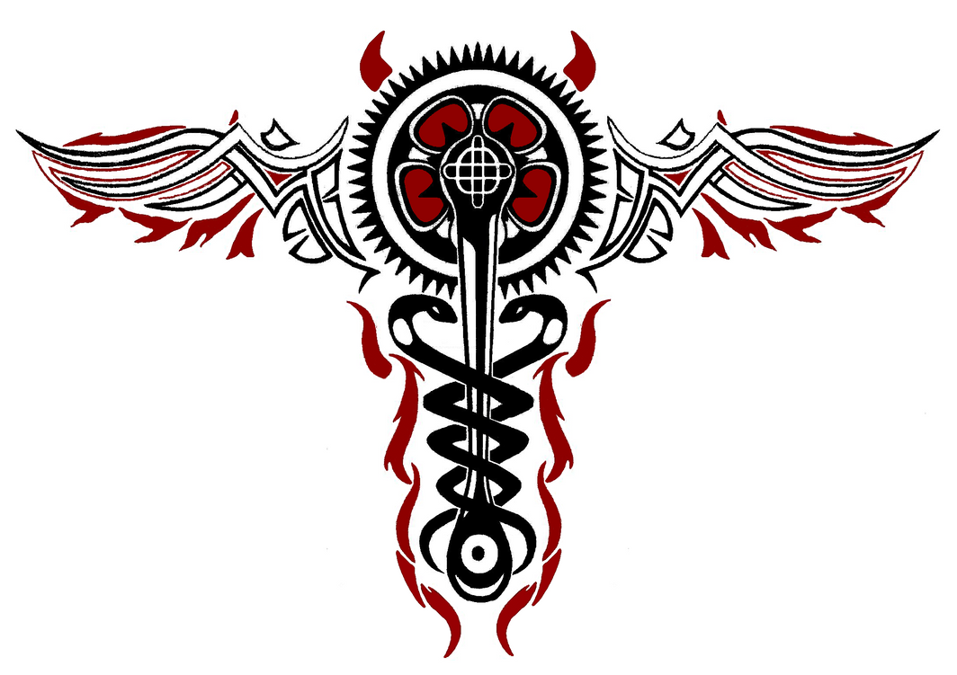 inFAMOUS 2 Cole MacGrath Evil Caduceus Tattoo by ...