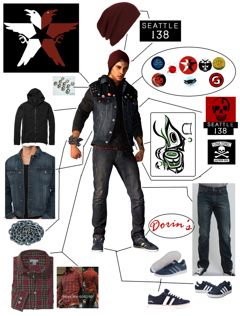Delsin Rowe Outfit Broken Down New Organized by Linkmaster101