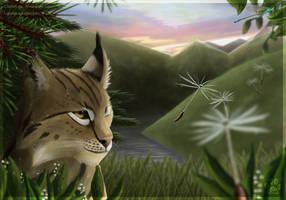dewy lynx by ClaireLyxa