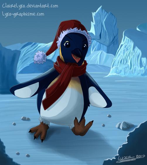 Christmas Penguin by ClaireLyxa