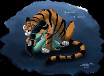 Jasmine and Rajah by ClaireLyxa