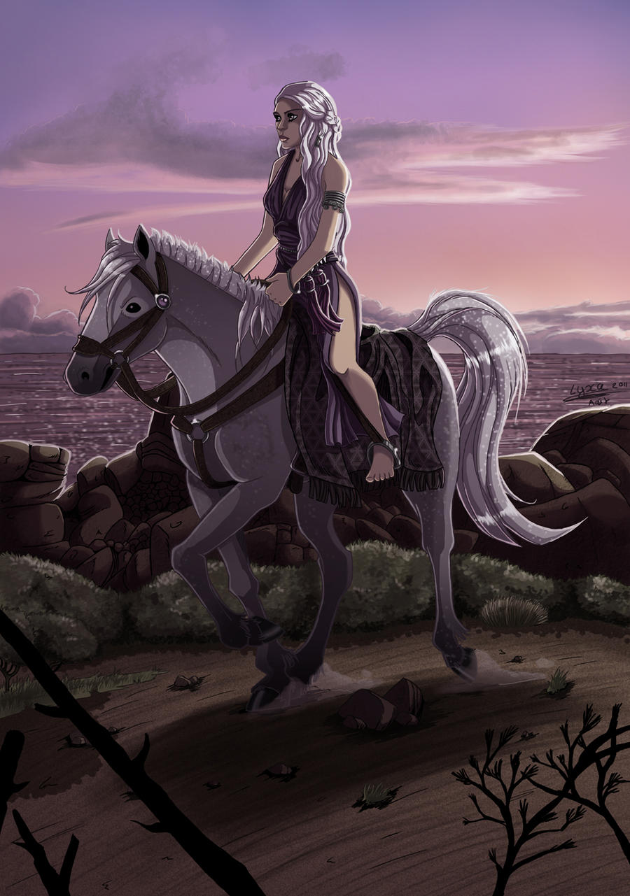 Daenerys on her silver by ClaireLyxa