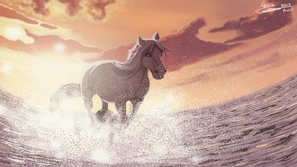 Horse galloping by ClaireLyxa