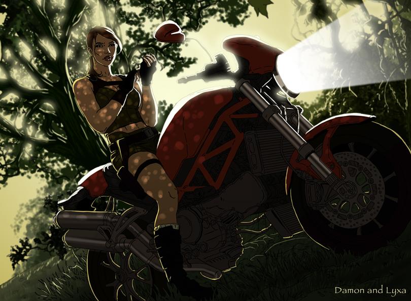 Lara Croft's motorbike by ClaireLyxa