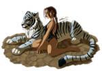 Lara Croft and her Tiger