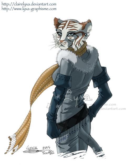 Anthro white tigress - photo#27