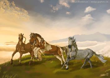 Marony, Podoreso and Plumeau by ClaireLyxa