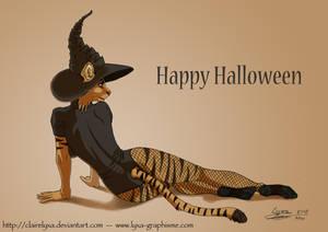 Lyxa as a witch