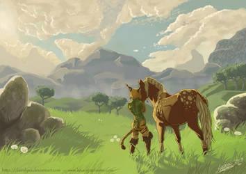 Lyxa and Marony scenery by ClaireLyxa
