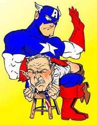 Bush meets Captain America... by BrazilianBadBoy