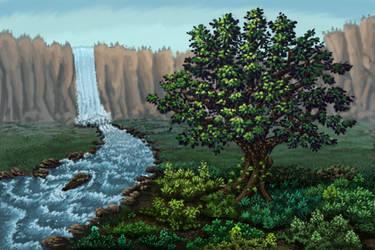 Waterfall by popopom