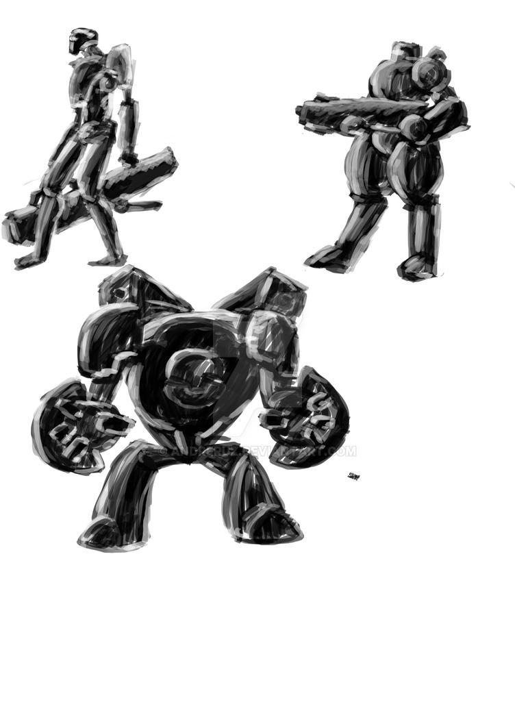Robots Sketches 3 by andreruz