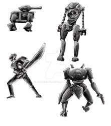 Robots Sketches 4