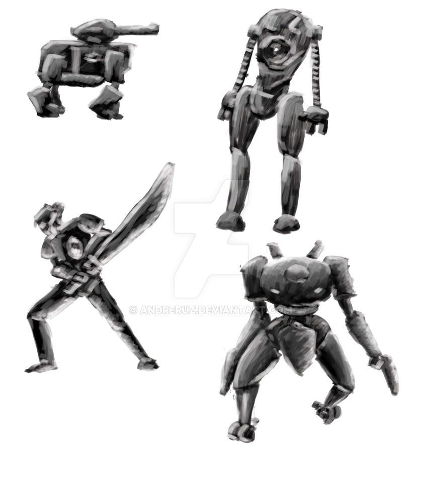 Robots Sketches 4 by andreruz