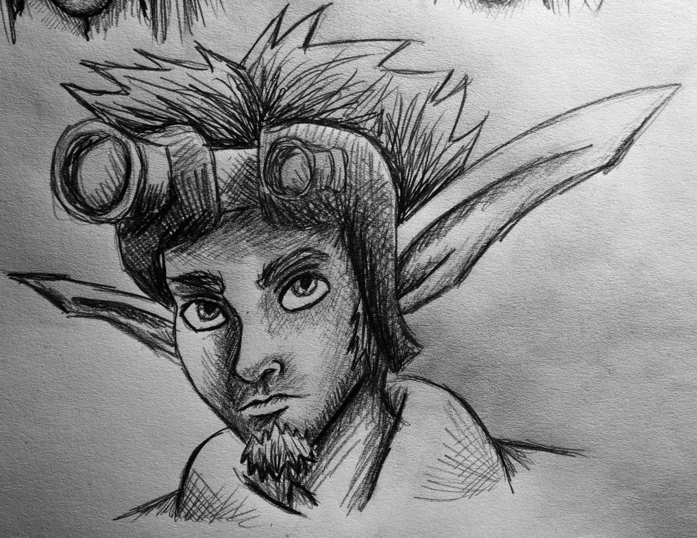 Jak X Pencil Drawing by AxelFlame8