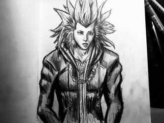 Axel Pencil Drawing KH3 by AxelFlame8