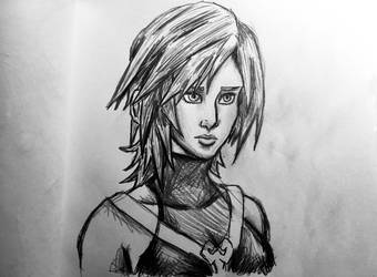 Aqua Pencil Drawing by AxelFlame8