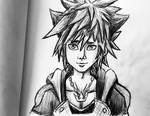 Sora Pencil Drawing by AxelFlame8