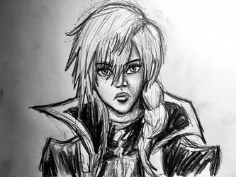 Lightning Pencil Drawing by AxelFlame8