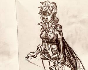 Lightning Pencil Drawing 2
