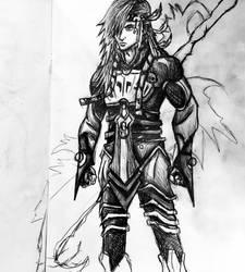 Caius Ballad Pencil Drawing 1