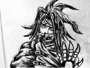 Vincent Valentine Pencil Drawing 2