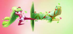 Pokemon Sun and Moon - Tsareena use Trop Kick by Koki-arts