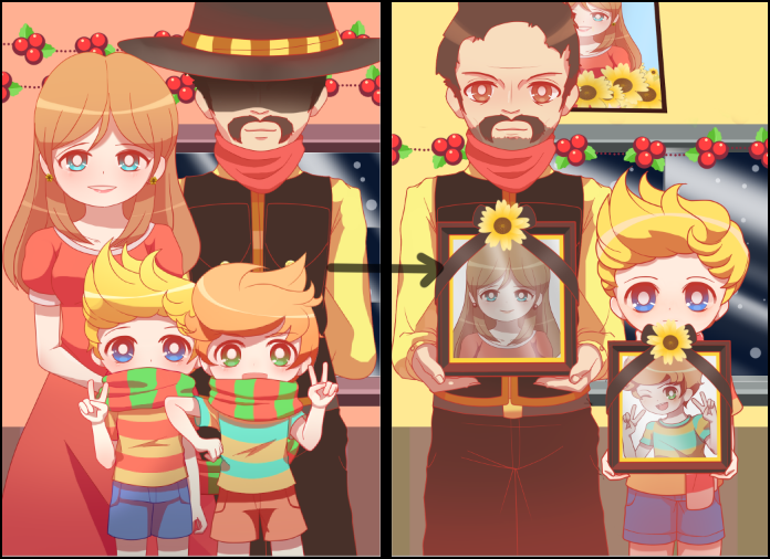 Mother 3 - Lucas's Family Christmas Pictures by Koki-arts on
