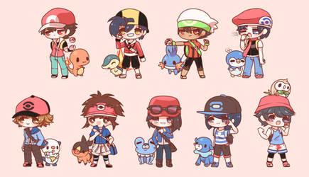 Chibi Pokemon Boys