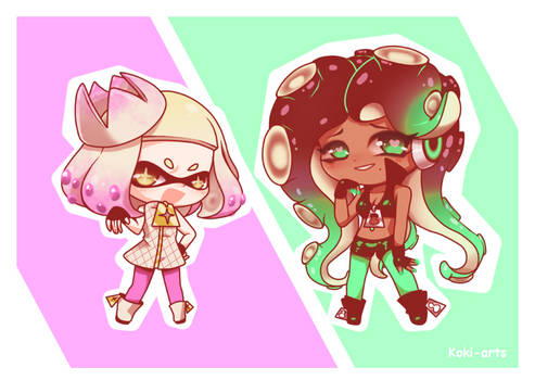 Chibi Splatoon - Off The Hook by Koki-arts