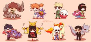 Chibi Pokemon Kanto Gym Leaders by Koki-arts