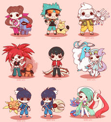 Chibi Pokemon Hoenn Gym Leaders