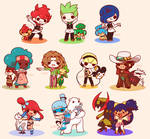 Chibi Pokemon Unova Gym Leaders
