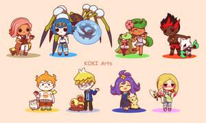 Chibi Pokemon Alola Captains