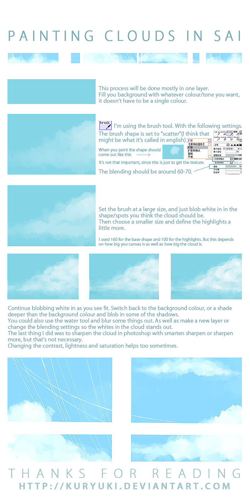 Cloud Painting Tutorial in SAI by kuryuki