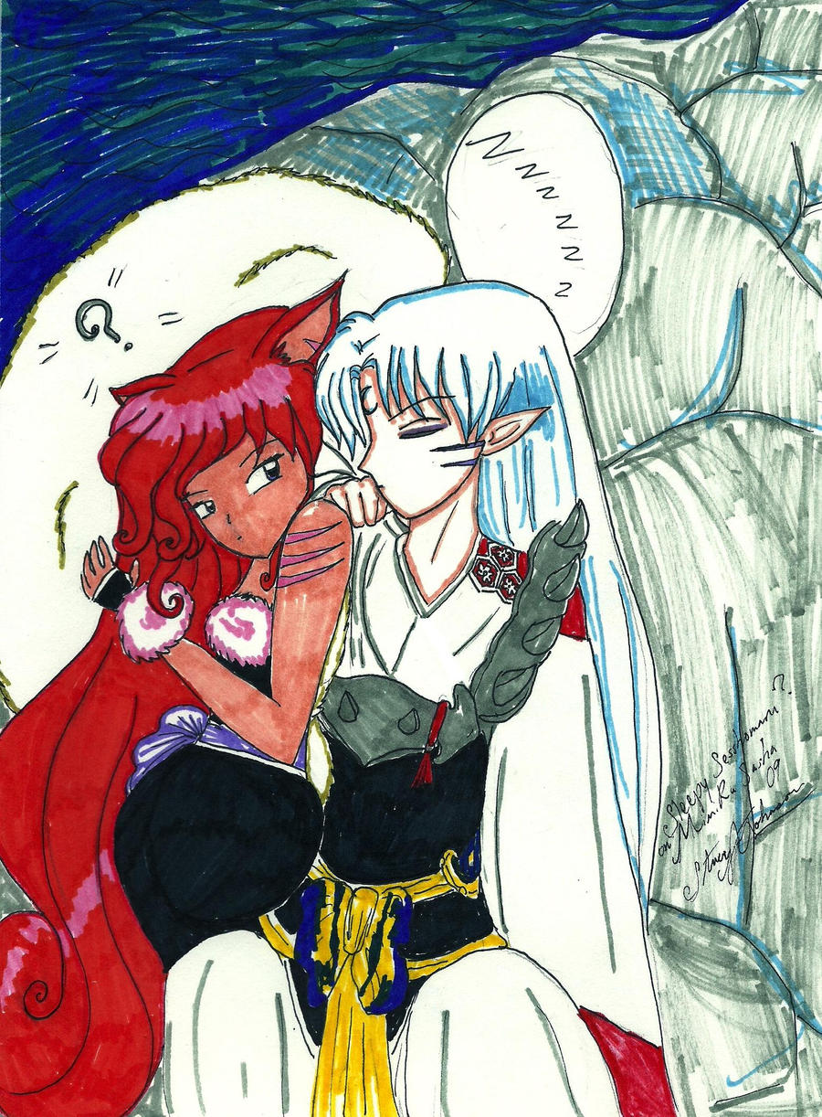 Sesshomaru Sleeping by bluebellangel19smj