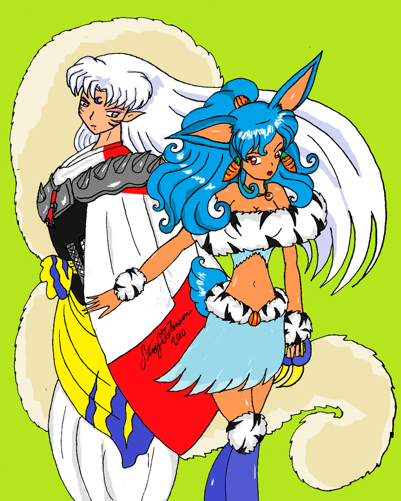 Trixi and Sesshomaru3 by bluebellangel19smj
