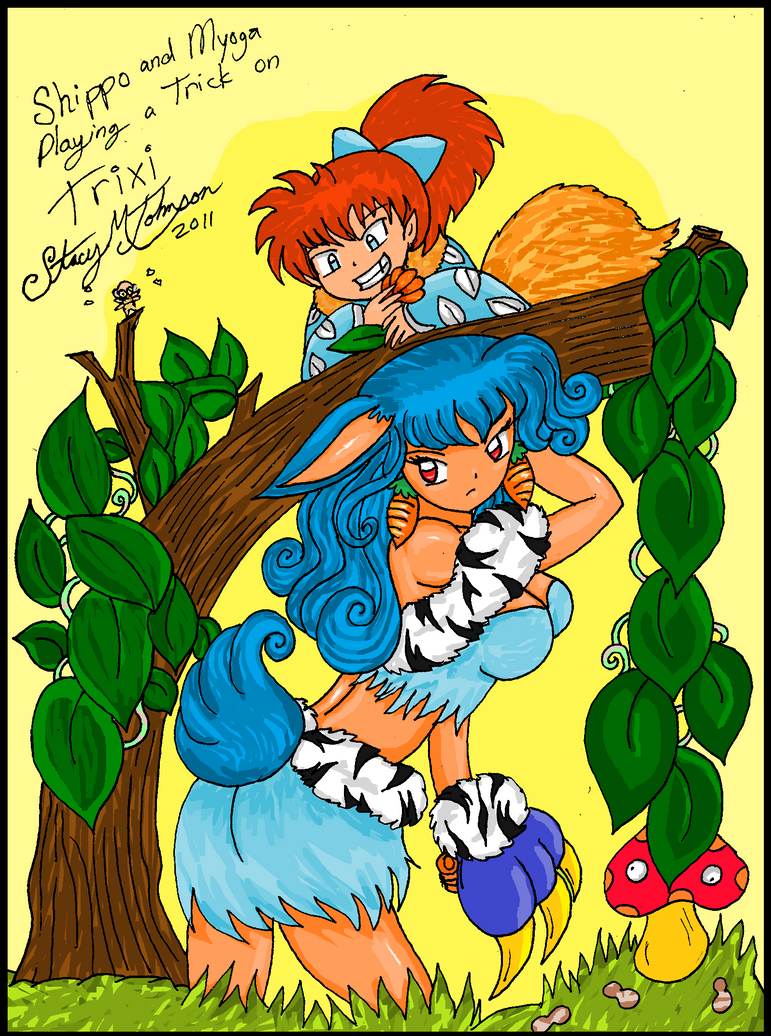 Trick on Trixi Colored by bluebellangel19smj