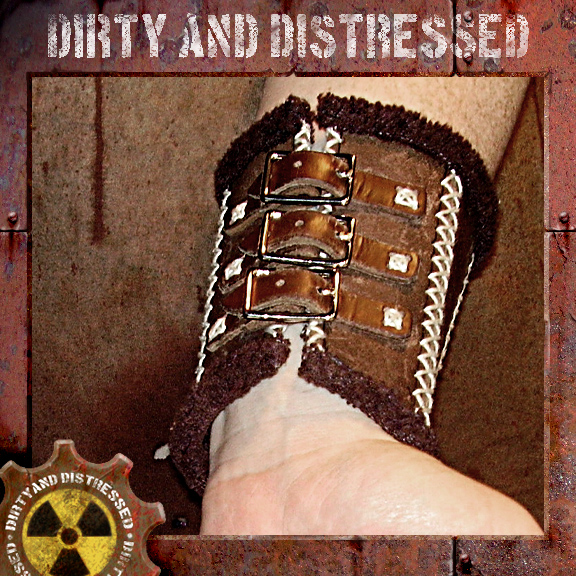 Leather Tribal Wrist Guard 3 by DirtyandDistressed