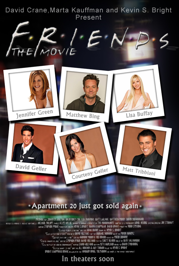 Friends The Movie Poster By Marty Mclfy
