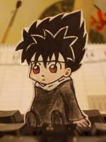 Hiei chibi ~ paperchildren by NinaChan95