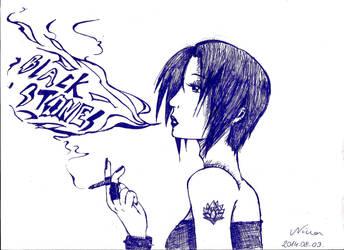 Nana smokes by NinaChan95